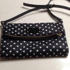 Kate spade black and white polka dots crossbody